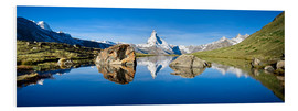 Jan Christopher Becke - Swiss mountains with the Matterhorn and Stellisee