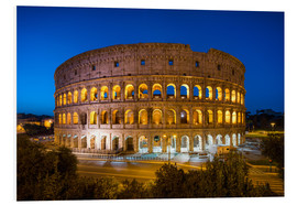 Foam board print  Colosseum in Rome at night - Jan Christopher Becke