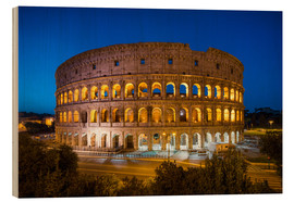 Wood print  Colosseum in Rome at night - Jan Christopher Becke