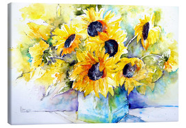 Canvas  Sunflowers in Vase - Brigitte Dürr