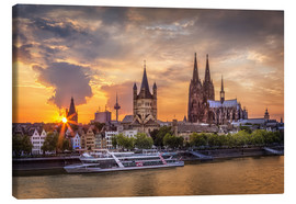 Canvas  Cologne Cathedral and Great St Martin - Jens Korte