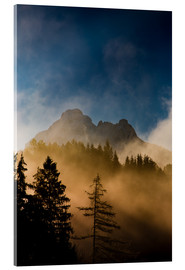 Acrylic glass  Foggy Morning in the Alps - Michael Helmer