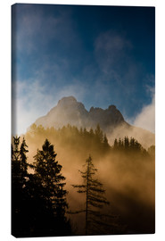 Canvas print  Foggy Morning in the Alps - Michael Helmer