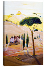 Canvas print  Tuscany in the morning - Christine Huwer