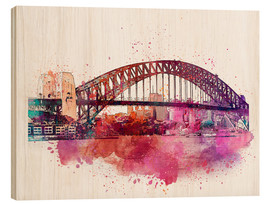 Wood print  Sydney Harbor Bridge - Andrea Haase