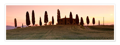 Premium poster House with cypresses, Tuscany