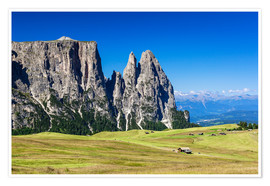 Premium poster Seiser Alm - South Tyrol (Italy)