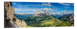 Alu-Dibond  The Dolomites in South Tyrol, panoramic view - Sascha Kilmer