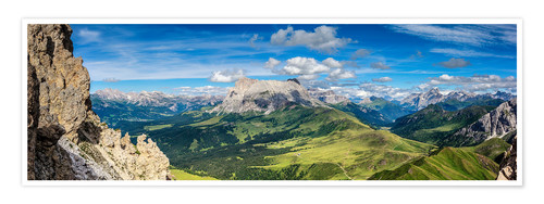 Premium poster The Dolomites in South Tyrol, panoramic view