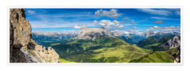 Premium poster  The Dolomites in South Tyrol, panoramic view - Sascha Kilmer
