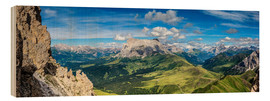 Wood print  The Dolomites in South Tyrol, panoramic view - Sascha Kilmer