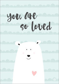 Aluminium print  You are so loved - Mint - m.belle