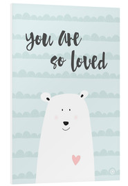 Foam board print  You are so loved - Mint - m.belle