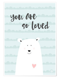 Poster You are so loved - Mint
