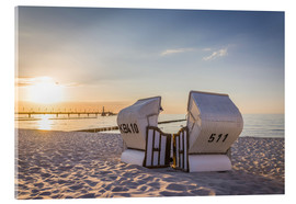 Acrylic print  Beach chairs, Baltic Sea - Christian Müringer