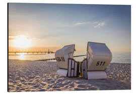 Alu-Dibond  Beach chairs, Baltic Sea - Christian Müringer