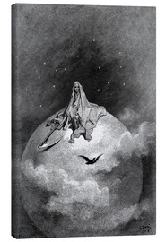 Canvas print  The Raven - Gustave Doré