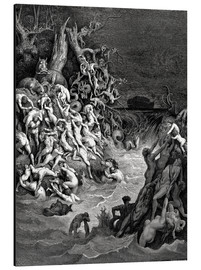 Aluminium print  The world will be destroyed by water - Gustave Doré