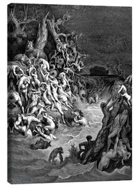 Canvas print  The world will be destroyed by water - Gustave Doré