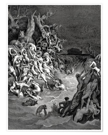 Premium poster  The world will be destroyed by water - Gustave Doré