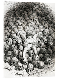 Acrylic print  Love reflects on Death - Gustave Doré