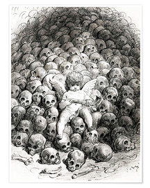 Premium poster  Love reflects on Death - Gustave Doré