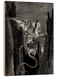 Wood print  Divine Comedy, Inferno - Gustave Doré