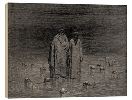 Wood print  The Inferno, Canto 32 - Gustave Doré