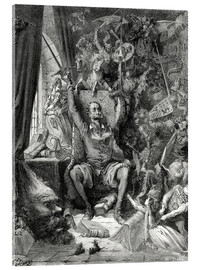 Acrylic glass  Don Quixote, a world of disorder - Gustave Doré