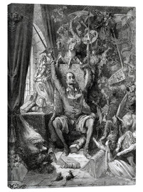 Canvas print  Don Quixote, a world of disorder - Gustave Doré
