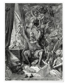 Premium poster  Don Quixote, a world of disorder - Gustave Doré