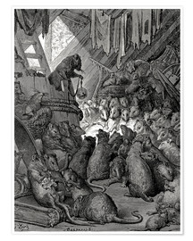 Premium poster  The council of the rats - Gustave Doré