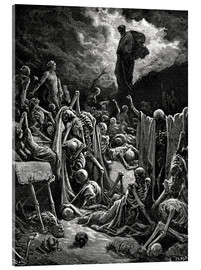 Acrylic print  The Vision of the Valley of the dry Bones - Gustave Doré