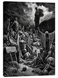 Canvas print  The Vision of the Valley of the dry Bones - Gustave Doré