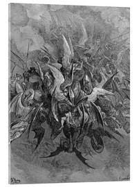 Acrylic print  War in Heaven - Gustave Doré