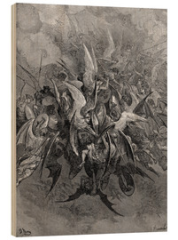 Wood print  War in Heaven - Gustave Doré