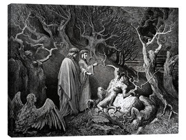 Canvas print  The Inferno, Canto 13 - Gustave Doré