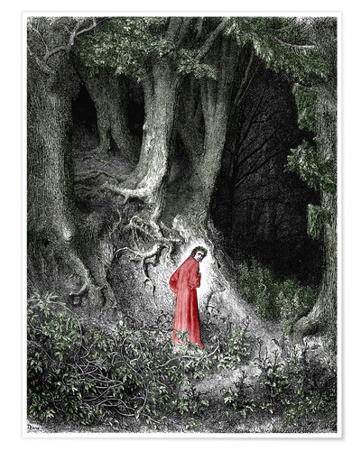 Premium poster Man In The Forest