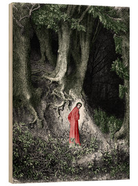Wood print  Man In The Forest - Gustave Doré