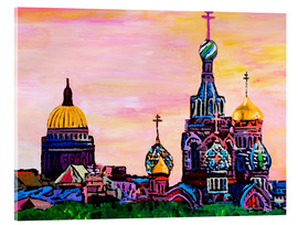 Acrylic print  Saint Petersburg with golden couples - M. Bleichner