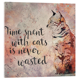 Acrylic glass  Time with cats - Andrea Haase