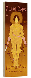 Wood print  Joan of Arc - Georges de Feure