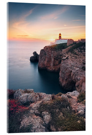 Acrylic glass  At the end of the world (Cabo de São Vicente / Algarve / Portugal) - Dirk Wiemer