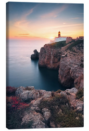 Canvas  At the end of the world (Cabo de São Vicente / Algarve / Portugal) - Dirk Wiemer