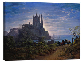 Canvas print  Gothic church on a cliff by the sea - Karl Friedrich Schinkel