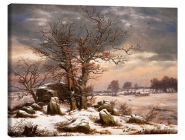 Johan Christian Clausen Dahl - Megalithic grave in winter