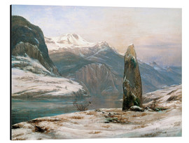 Johan Christian Clausen Dahl - winter at the sognefjord