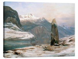 Canvas  winter at the sognefjord - Johan Christian Clausen Dahl