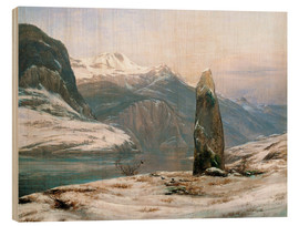 Wood  winter at the sognefjord - Johan Christian Clausen Dahl