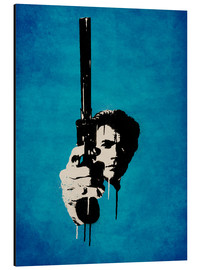 Aluminium print  Clint Eastwood - Dirty Harry - Durro Art